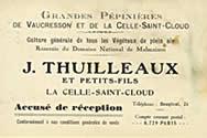 Accusé de réception Thuilleaux