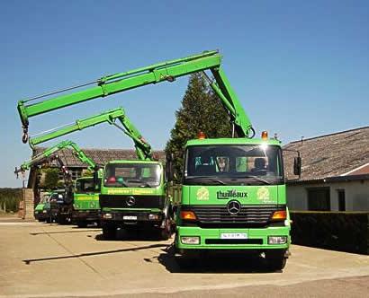 Le parc de camions des pépinères Thuilleaux